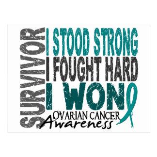 Survivor 4 Ovarian Cancer Postcard