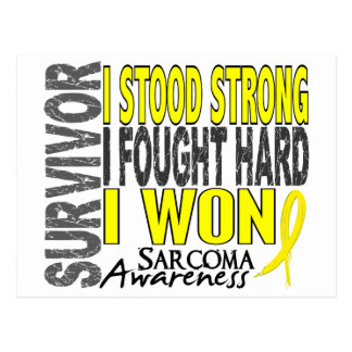 Survivor 4 Sarcoma Postcard