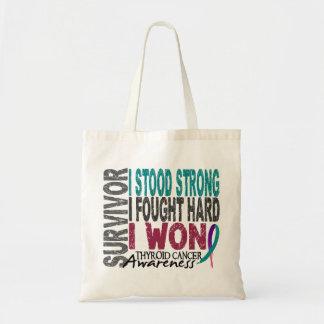 Survivor 4 Thyroid Cancer Canvas Bag
