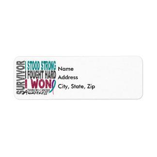 Survivor 4 Thyroid Cancer Return Address Label