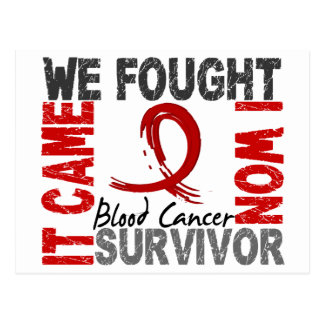 Survivor 5 Blood Cancer Postcard