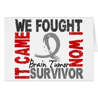 Survivor 5 Brain Tumor Greeting Card