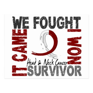 Survivor 5 Head Neck Cancer Postcard