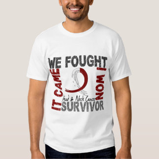 Survivor 5 Head Neck Cancer Tshirts