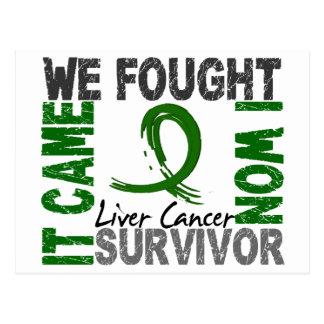 Survivor 5 Liver Cancer Postcard