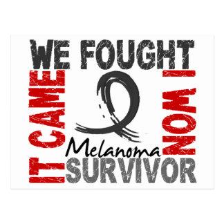 Survivor 5 Melanoma Postcard