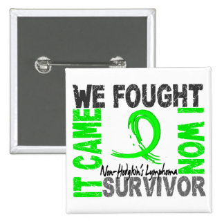 Survivor 5 Non-Hodgkin's Lymphoma 15 Cm Square Badge