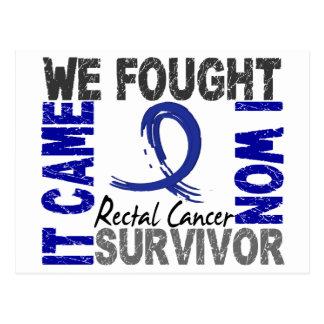 Survivor 5 Rectal Cancer Postcard