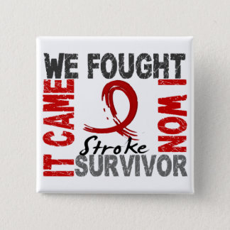 Stroke survivor gifts t shirts art posters other gift ideas survivor 5 stroke 15 cm square badge negle Choice Image