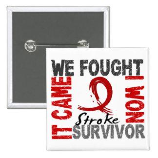 Survivor 5 Stroke Pinback Button