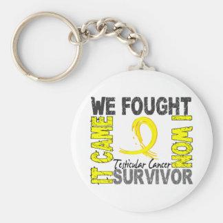 Survivor 5 Testicular Cancer Basic Round Button Key Ring