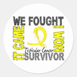 Survivor 5 Testicular Cancer Round Sticker