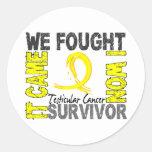 Survivor 5 Testicular Cancer Round Stickers