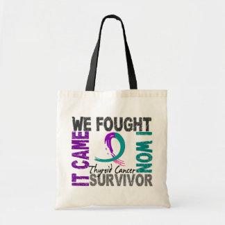 Survivor 5 Thyroid Cancer Canvas Bags