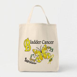 Survivor 6 Bladder Cancer Grocery Tote Bag