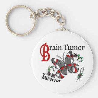 Survivor 6 Brain Tumor Basic Round Button Key Ring