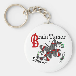 Survivor 6 Brain Tumour Basic Round Button Key Ring