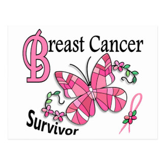 Survivor 6 Breast Cancer Postcard