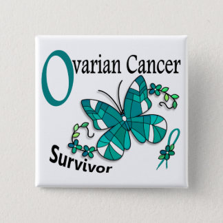 Survivor 6 Ovarian Cancer 15 Cm Square Badge