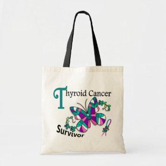 Survivor 6 Thyroid Cancer Budget Tote Bag