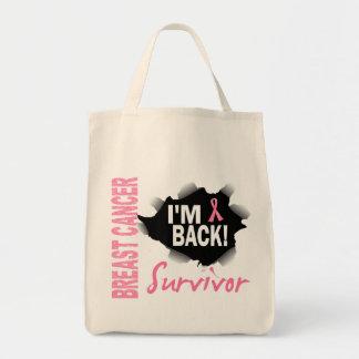 Survivor 7 Breast Cancer Grocery Tote Bag