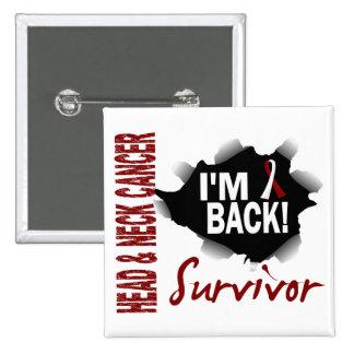 Survivor 7 Head Neck Cancer Pinback Buttons