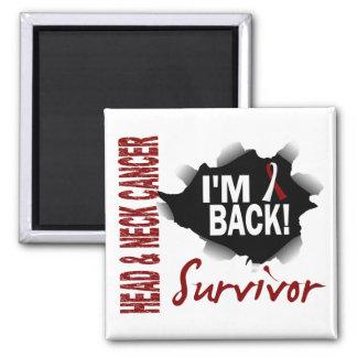 Survivor 7 Head Neck Cancer Square Magnet