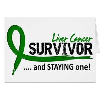 Survivor 8 Liver Cancer Greeting Card