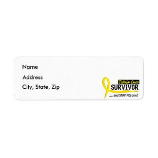 Survivor 8 Testicular Cancer Return Address Label