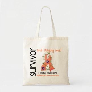Survivor 9 Endometrial Cancer Canvas Bag
