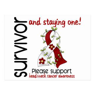 Survivor 9 Head Neck Cancer Postcard