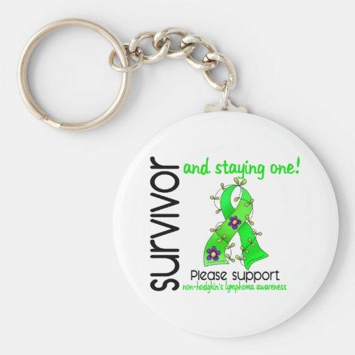 Survivor 9 Non-Hodgkin's Lymphoma Key Chains