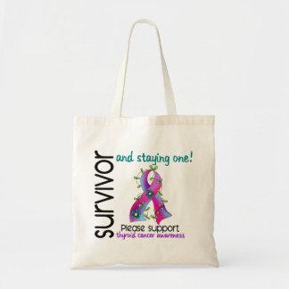 Survivor 9 Thyroid Cancer Tote Bag