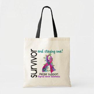 Survivor 9 Thyroid Cancer Canvas Bags