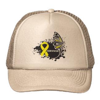 Survivor Abstract Butterfly Bladder Cancer Trucker Hat