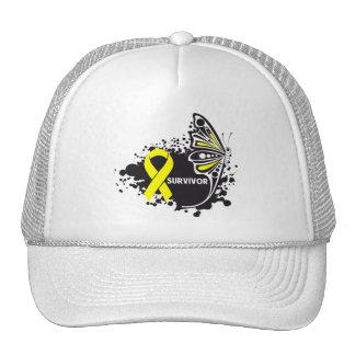Survivor Abstract Butterfly Bladder Cancer Mesh Hats
