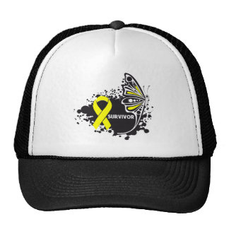 Survivor Abstract Butterfly Bladder Cancer Mesh Hat