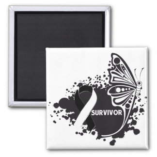 Survivor Abstract Butterfly Carcinoid Cancer Fridge Magnets