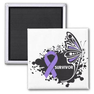 Survivor Abstract Butterfly Hodgkin's Lymphoma Refrigerator Magnet