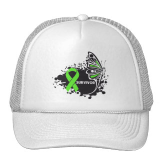 Survivor Abstract Butterfly NonHodgkins Lymphoma Mesh Hats