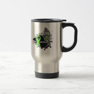 Survivor Abstract Butterfly NonHodgkins Lymphoma Mug