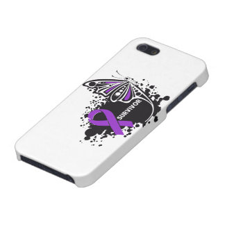 Survivor Abstract Butterfly Pancreatic Cancer iPhone 5 Case