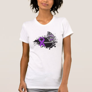 Survivor Abstract Butterfly Pancreatic Cancer Shirt