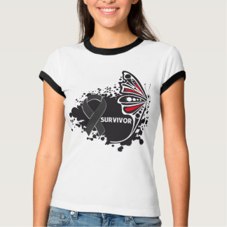 Survivor Abstract Butterfly Skin Cancer T-Shirt