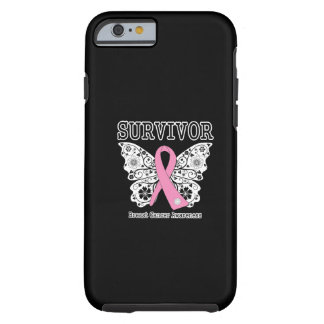 SURVIVOR - Breast Cancer Butterfly Tough iPhone 6 Case