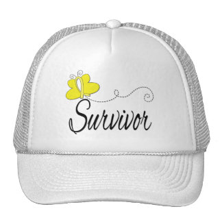 Survivor Butterfly Ribbon Bladder Cancer Mesh Hat