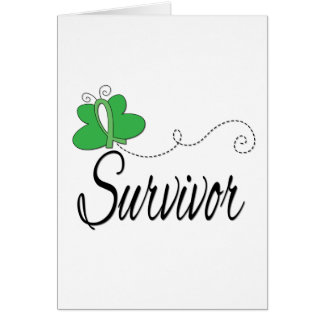 Survivor Butterfly Ribbon Kidney Cancer Greeting Card