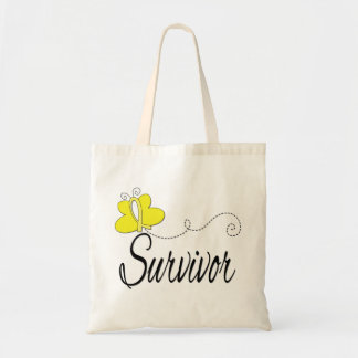 Survivor Butterfly Ribbon Sarcoma Bags