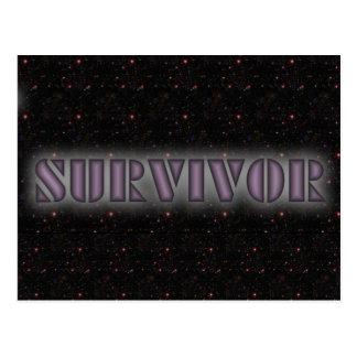 SURVIVOR CARD POSTCARD