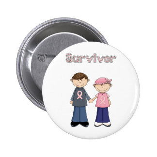Survivor Cartoon 6 Cm Round Badge